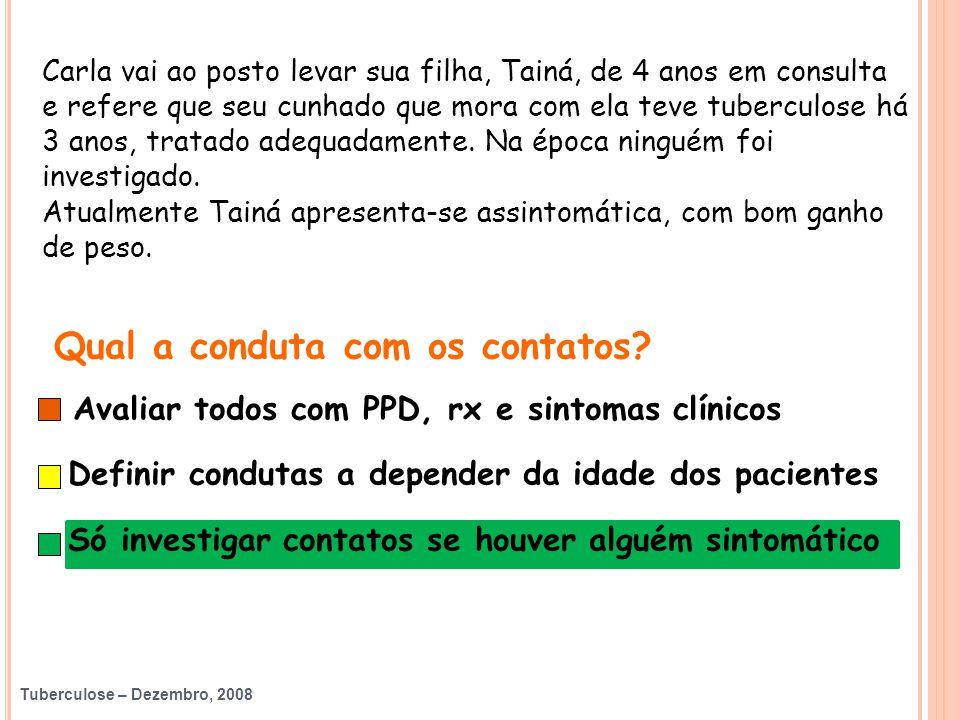 Tuberculose – Dezembro, 2008 Andrea Maciel de Oliveira Rossoni HC - UFPR