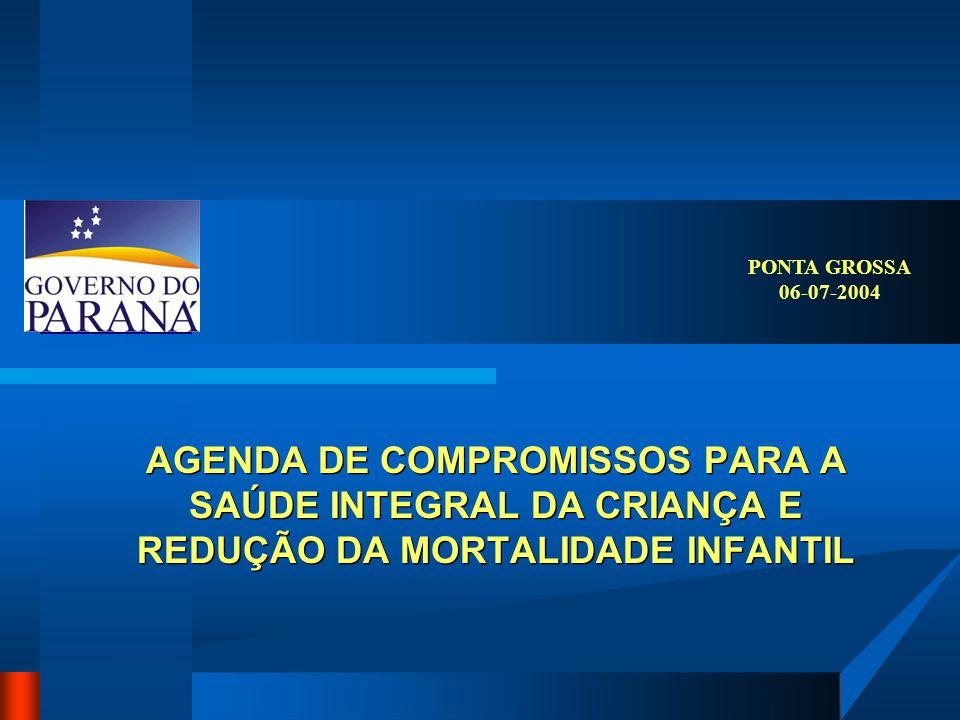 AGENDA DE COMPROMISSOS PARA A SAÚDE INTEGRAL DA CRIANÇA E REDUÇÃO DA MORTALIDADE INFANTIL PONTA GROSSA 06-07-2004