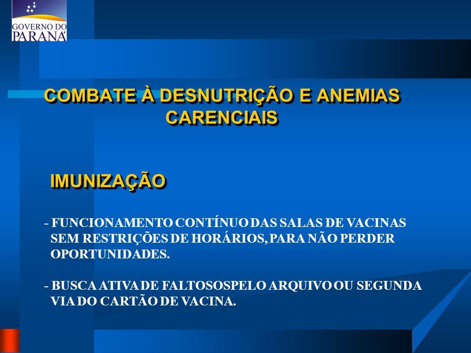 ABORDAGEM DE RISCO DA CRIANÇA NA UNIDADE DE SAÚDE 1 - AVALIAÇÃO DE FATORES DE RISCO RESIDENTE EM ÁREA DE RISCO BAIXO PESO AO NASCER CRIANÇA COM DOENÇA CRÔNICA GRAVE PREMATURO / DESNUTRIDO INTERNAÇÃO PRÉVIA < DE 1 ANO ( DESTAQUE < 3 MESES ) CARTÃO DE VACINAS ATRADO.