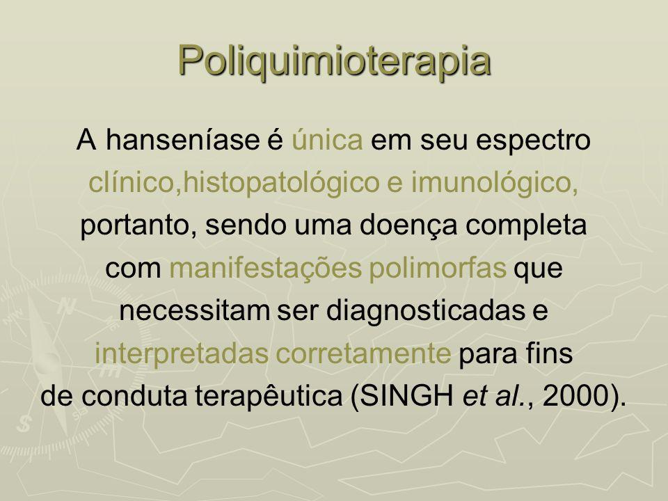 Poliquimioterapia A hanseníase é única em seu espectro clínico,histopatológico e imunológico, portanto, sendo uma doença completa com manifestações po