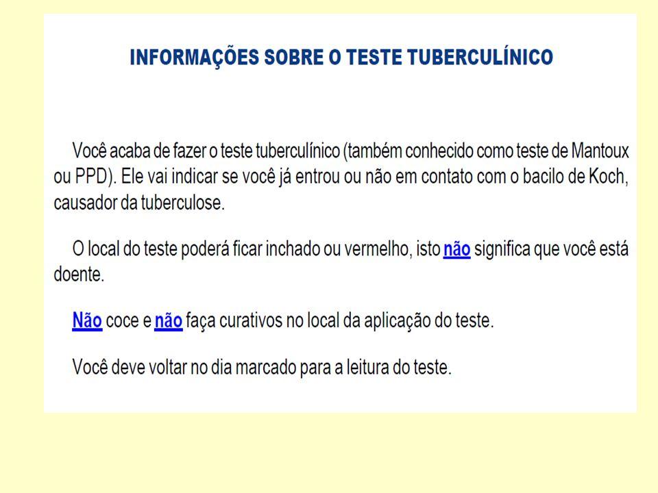 Mapa de Leituras Comparadas - Teste Tuberculínico Leitor: Leitor de Referência: 12345678910 11121314151617181920 21222324252627282930 71727374757677787980
