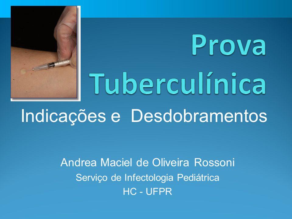 Tuberculose Congênita RN de mãe com tuberculose bacilífera * Avaliação clínico – radiológica Investigar e avaliar tratamento Não vacinar Quimioprofilaxia (3m) Normal Anormal Reator Quimioprofilaxia (3m) *Amamentar c/ máscara Prevenção da Tuberculose Não reator Vacinar (BCG) PT