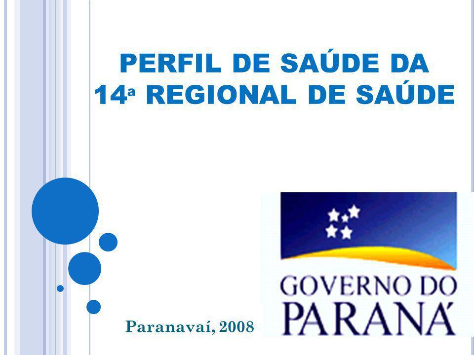 PERFIL DE SAÚDE DA 14 ª REGIONAL DE SAÚDE Paranavaí, 2008