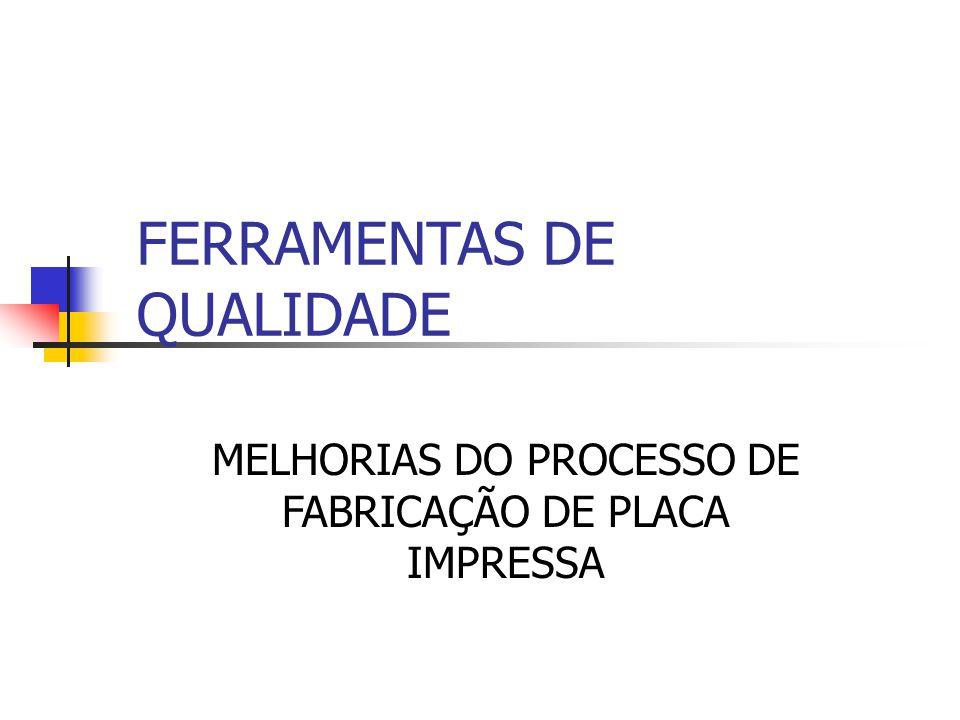 FERRAMENTAS DE QUALIDADE MELHORIAS DO PROCESSO DE FABRICAÇÃO DE PLACA IMPRESSA