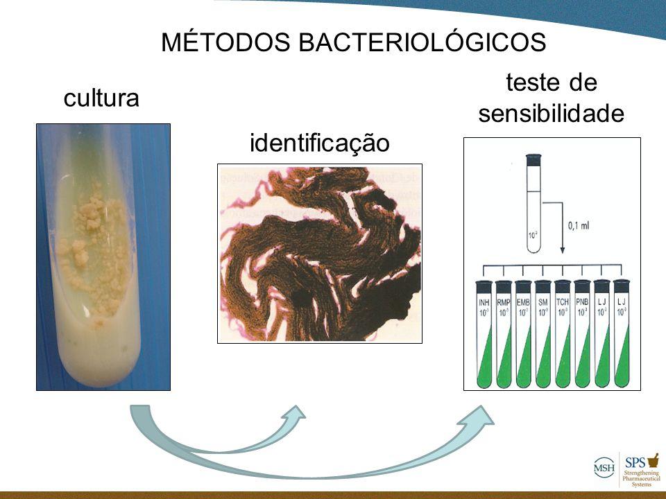cultura identificação teste de sensibilidade MÉTODOS BACTERIOLÓGICOS