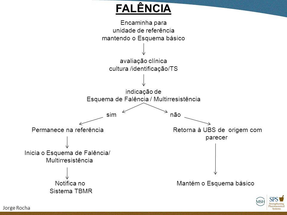FALÊNCIA Encaminha para unidade de referência mantendo o Esquema básico avaliação clínica cultura /identificação/TS indicação de Esquema de Falência /