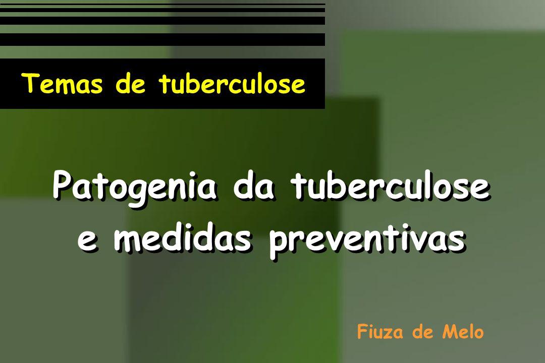 Patogenia da tuberculose e medidas preventivas Patogenia da tuberculose e medidas preventivas Fiuza de Melo Temas de tuberculose