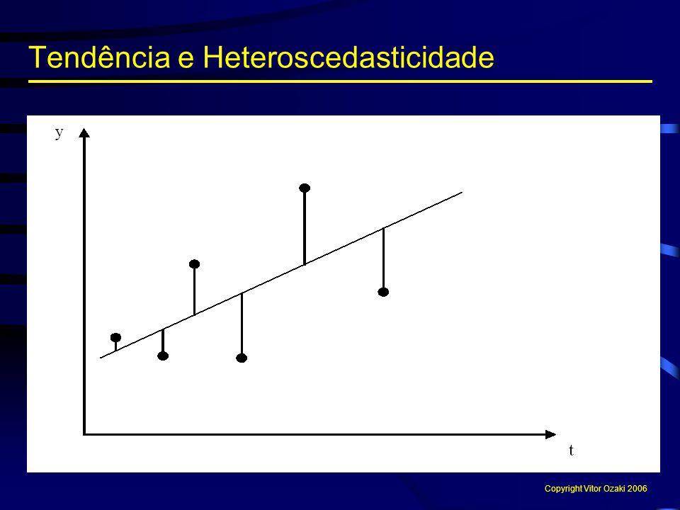 Tendência e Heteroscedasticidade Copyright Vitor Ozaki 2006