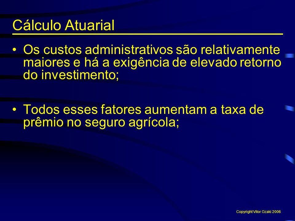 Os custos administrativos são relativamente maiores e há a exigência de elevado retorno do investimento; Todos esses fatores aumentam a taxa de prêmio