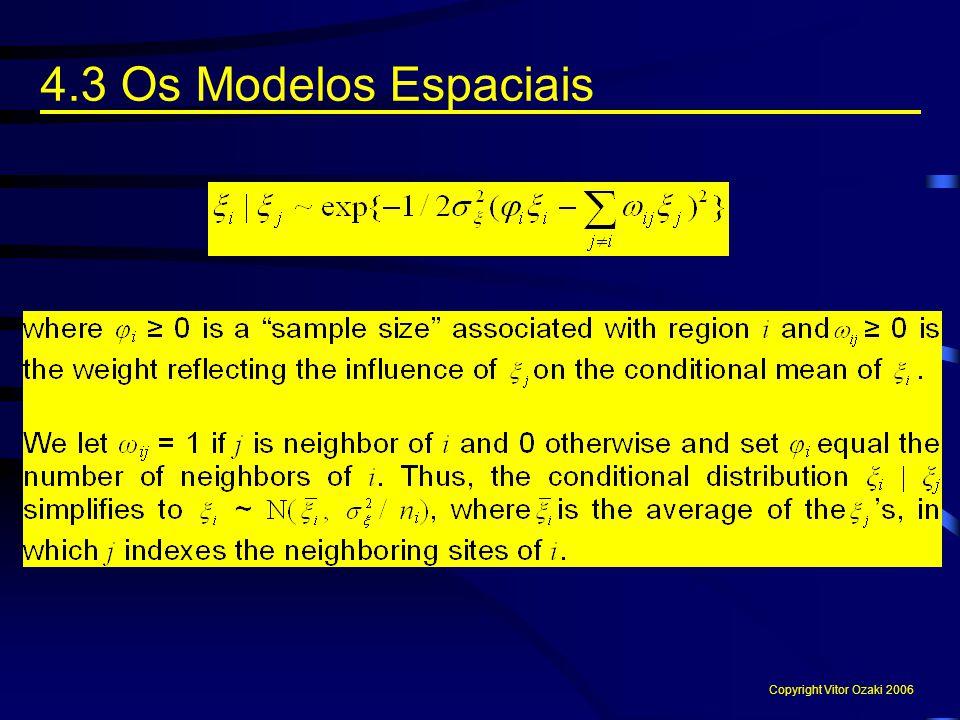 4.3 Os Modelos Espaciais