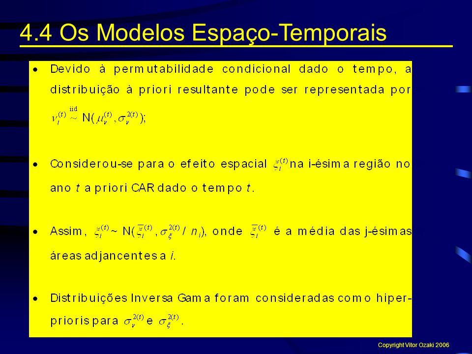4.4 Os Modelos Espaço-Temporais Copyright Vitor Ozaki 2006