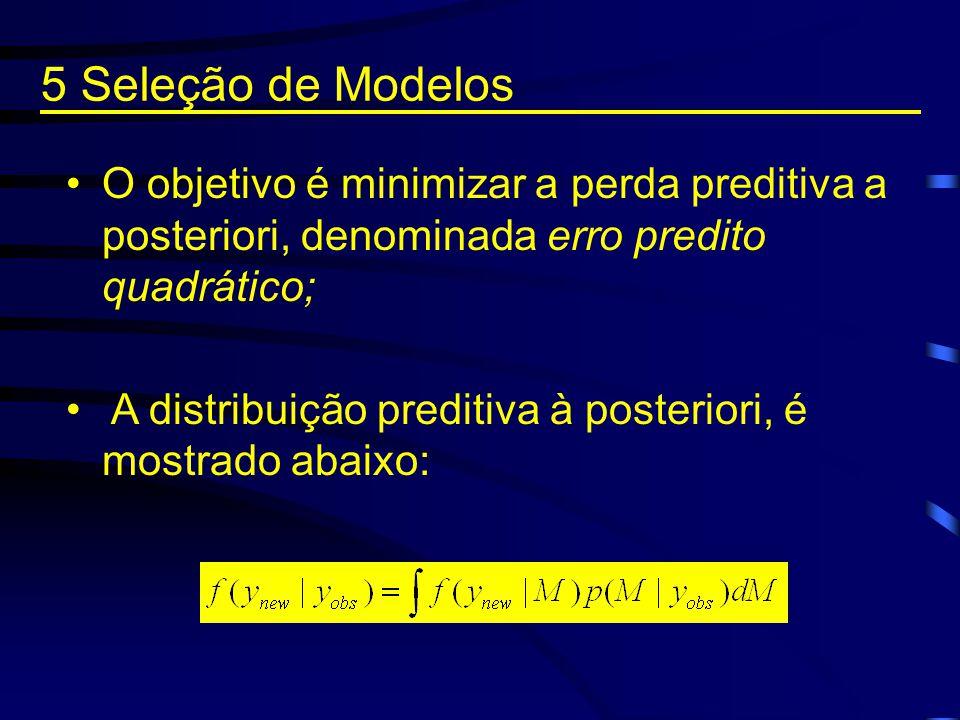 O objetivo é minimizar a perda preditiva a posteriori, denominada erro predito quadrático; A distribuição preditiva à posteriori, é mostrado abaixo: 5