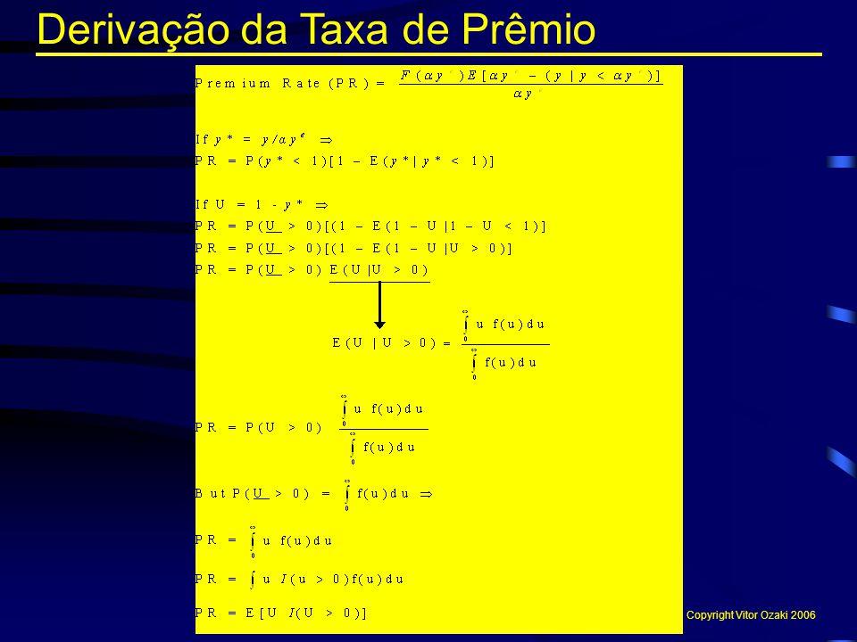 Derivação da Taxa de Prêmio Copyright Vitor Ozaki 2006