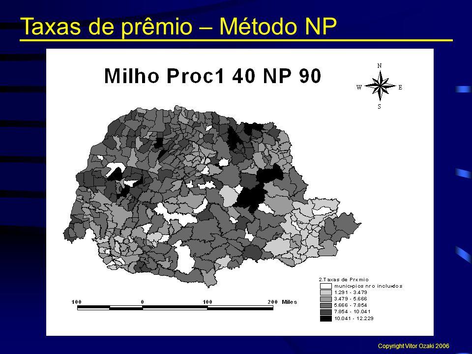 Taxas de prêmio – Método NP Copyright Vitor Ozaki 2006