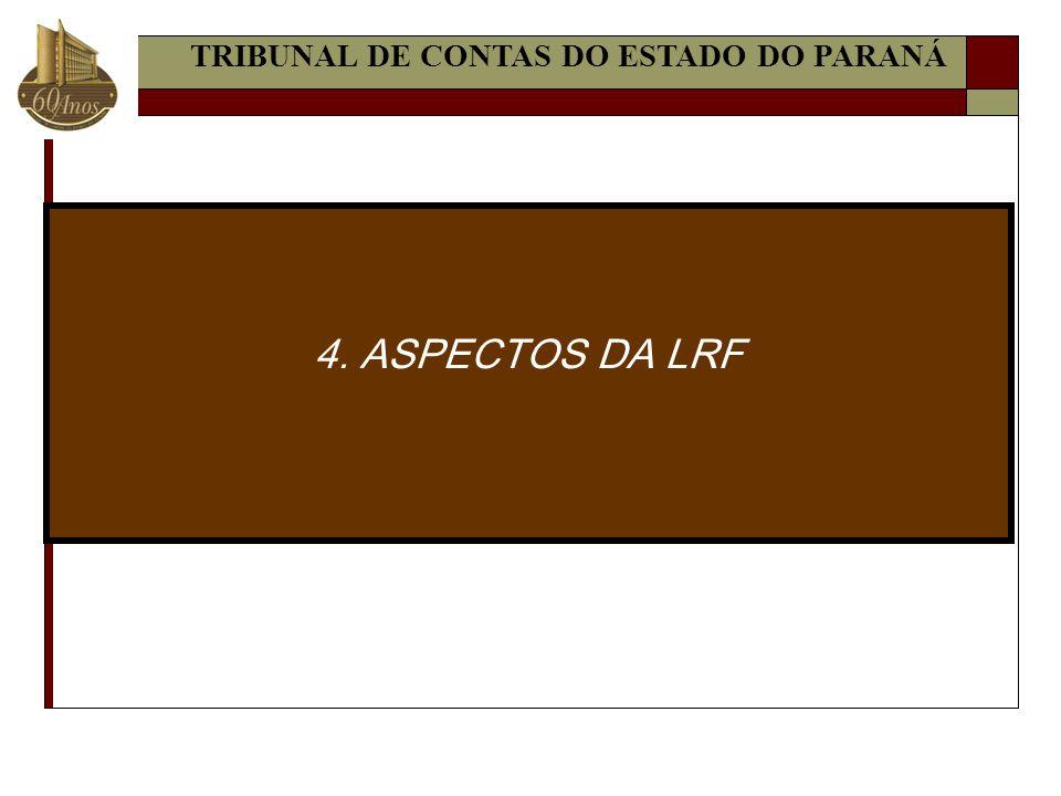 4. ASPECTOS DA LRF TRIBUNAL DE CONTAS DO ESTADO DO PARANÁ