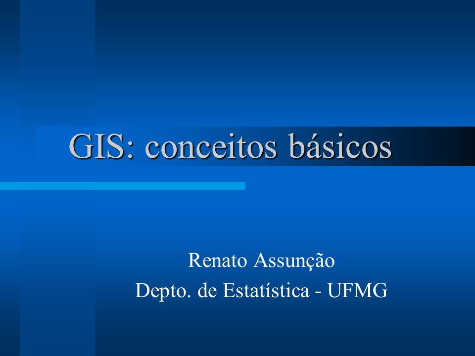 GIS: conceitos básicos Renato Assunção Depto. de Estatística - UFMG