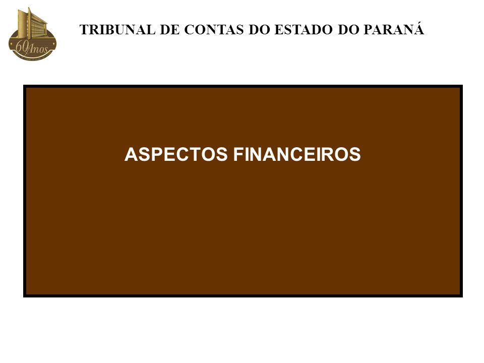 ASPECTOS FINANCEIROS TRIBUNAL DE CONTAS DO ESTADO DO PARANÁ