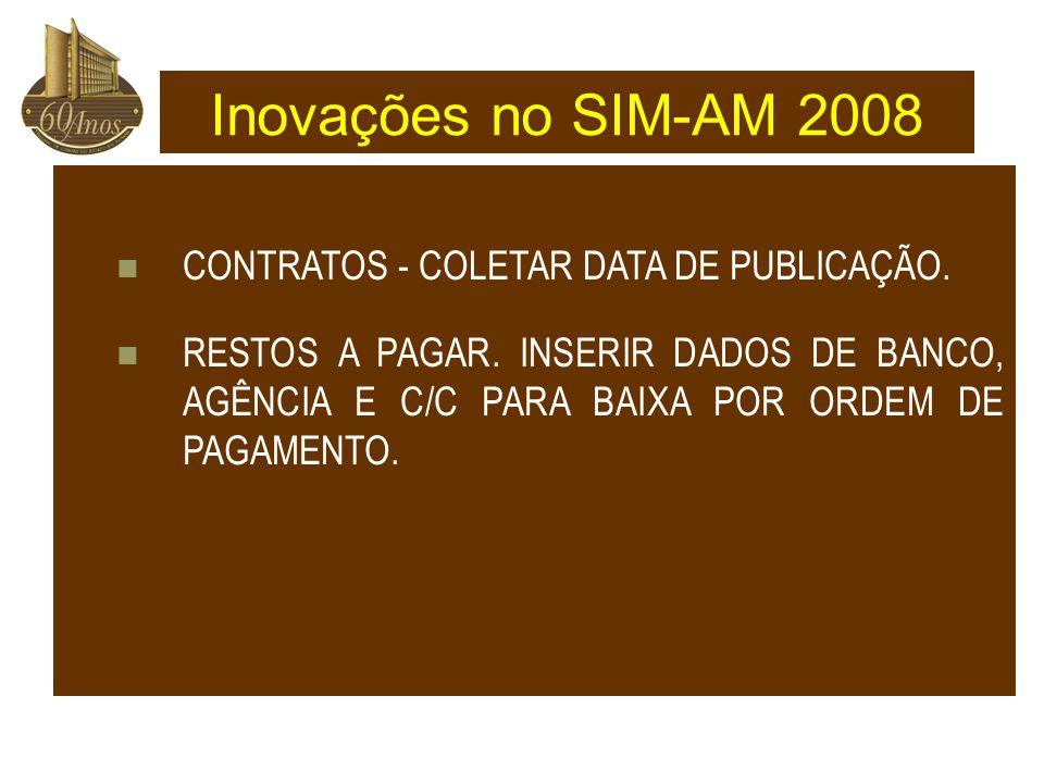 CONTRATOS - COLETAR DATA DE PUBLICAÇÃO.RESTOS A PAGAR.