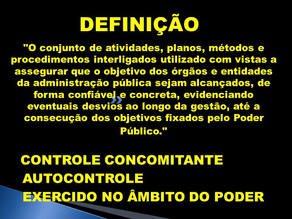 DEFINIÇÃO CONTROLE CONCOMITANTE AUTOCONTROLE