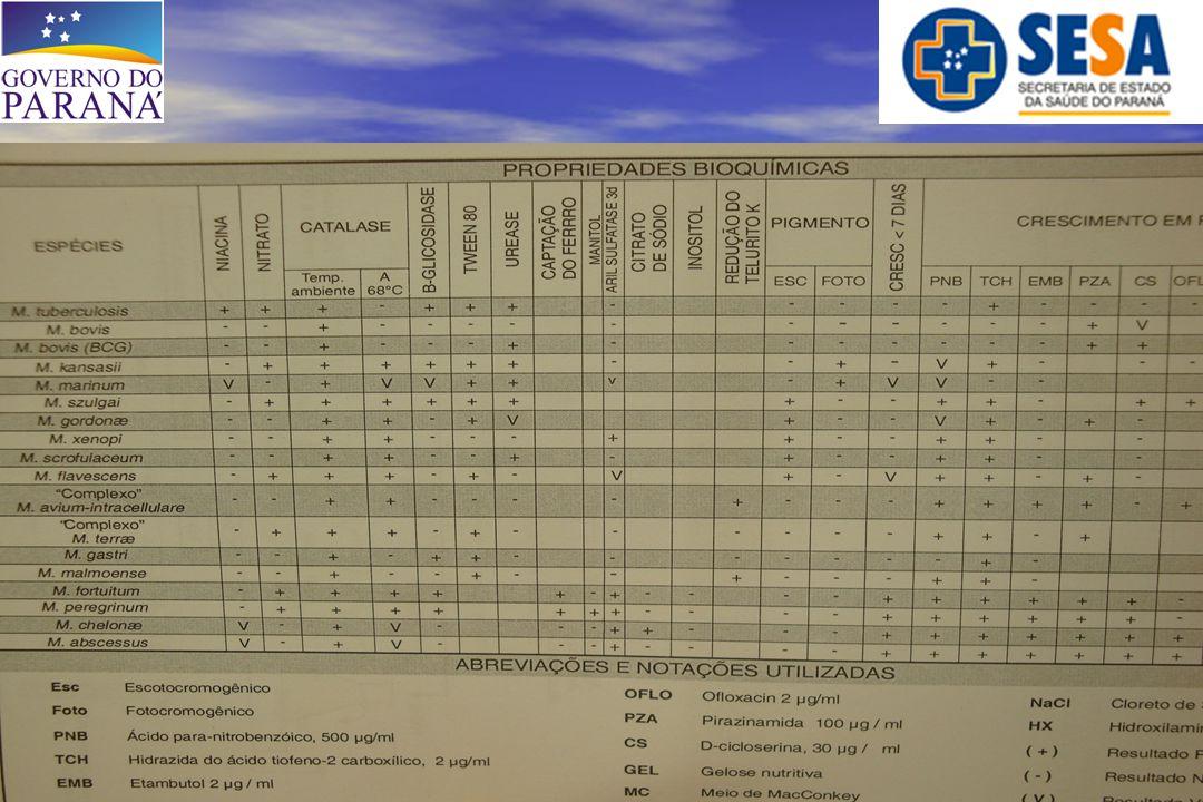 - MATERIAL: *** Outros (LCR, LBA, Biopsia, Lavado gástrico) = 17 (8%) 14 → M.
