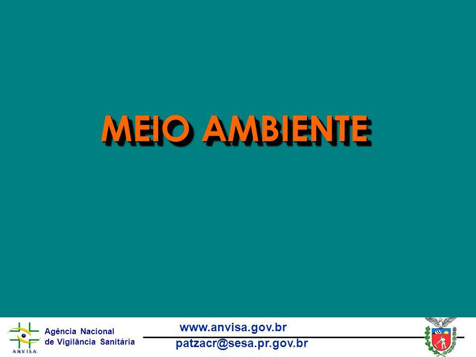Agência Nacional de Vigilância Sanitária www.anvisa.gov.br patzacr@sesa.pr.gov.br MEIO AMBIENTE