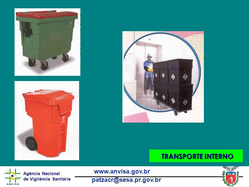 Agência Nacional de Vigilância Sanitária www.anvisa.gov.br patzacr@sesa.pr.gov.br TRANSPORTE INTERNO TRANSPORTE INTERNO