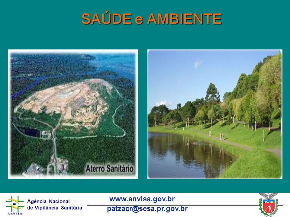 Agência Nacional de Vigilância Sanitária www.anvisa.gov.br patzacr@sesa.pr.gov.br SAÚDE e AMBIENTE