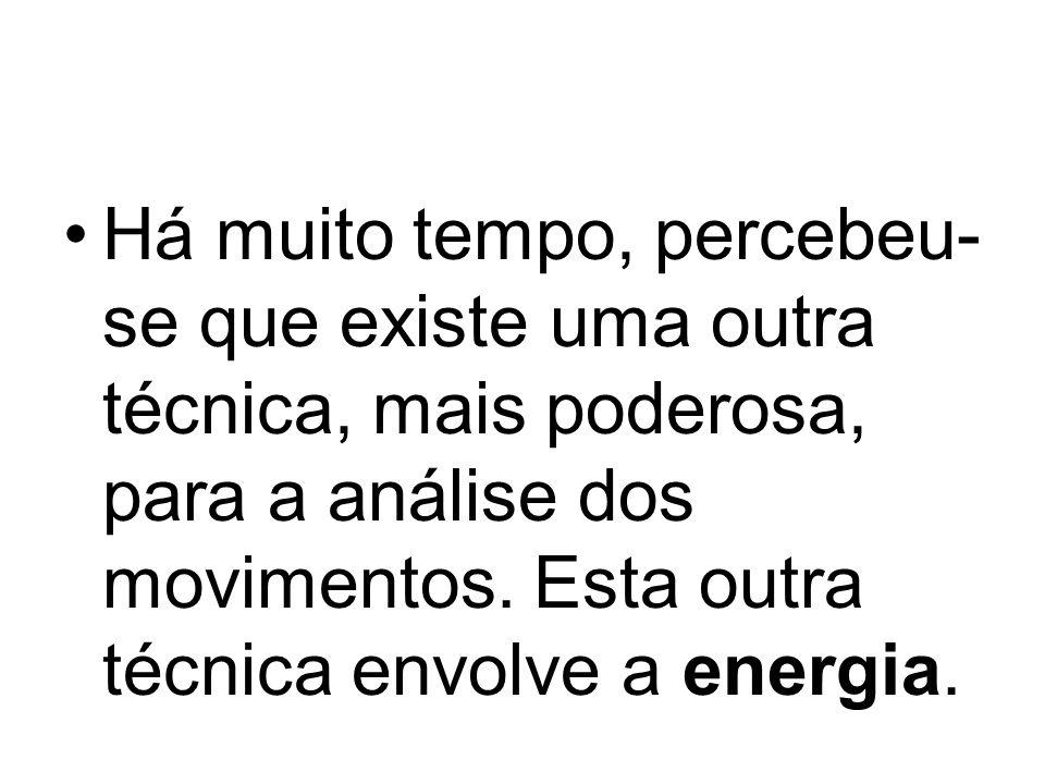 Energia potencial O alpinista possui energia armazenada pelo fato de estar a ser atraído pela Terra.