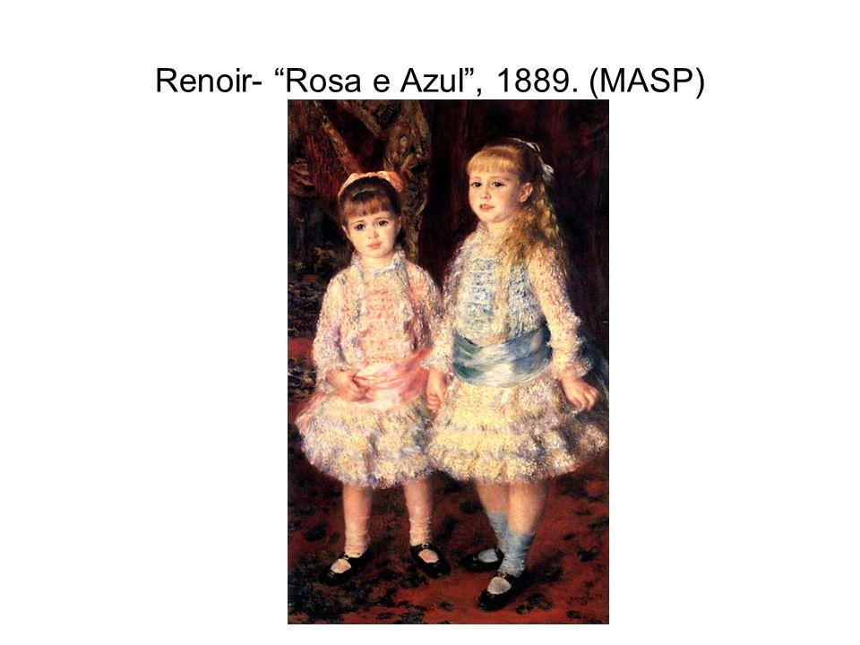 """Renoir- """"Rosa e Azul"""", 1889. (MASP)"""