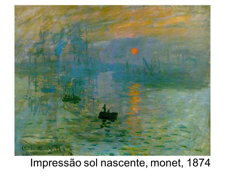 Impressão sol nascente, monet, 1874