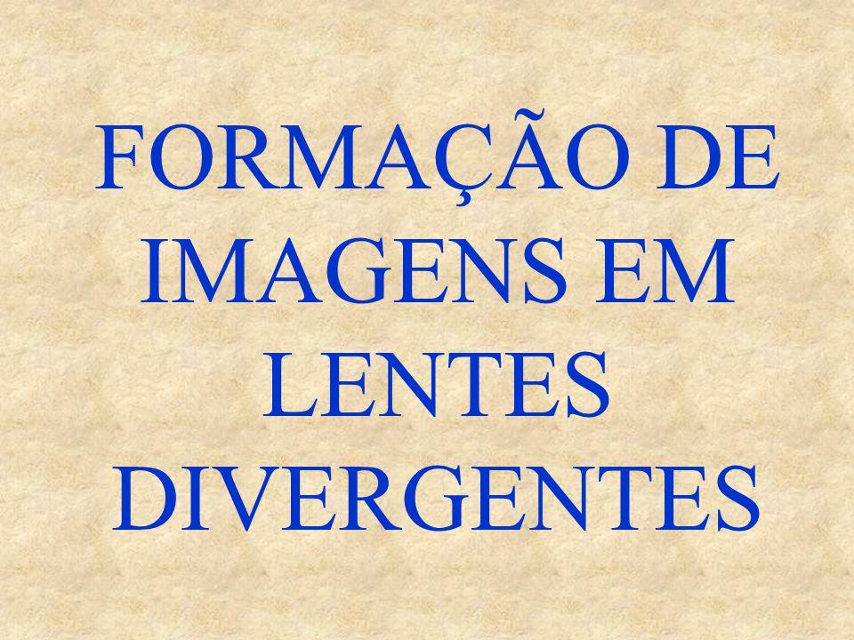FORMAÇÃO DE IMAGENS EM LENTES DIVERGENTES