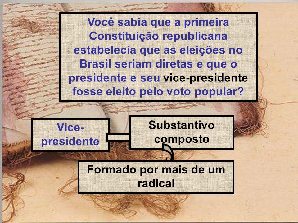 Você sabia que a primeira Constituição republicana estabelecia que as eleições no Brasil seriam diretas e que o presidente e seu vice-presidente fosse