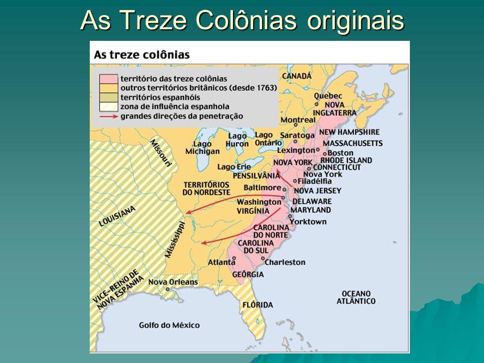 As Treze Colônias originais