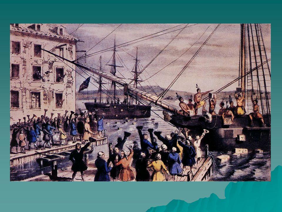 Leis Intoleráveis  O nome designa as leis promulgadas pelo Parlamento, em 1774, em represália à revolta da Festa do Chá, com o objetivo de conter o clima de insubordinação.