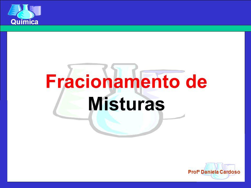 Profª Daniela Cardoso Química Filtração a vácuo A e B – Kitasatos C – Trompa de Vácuo D – Funil de Bückner E – Torneira