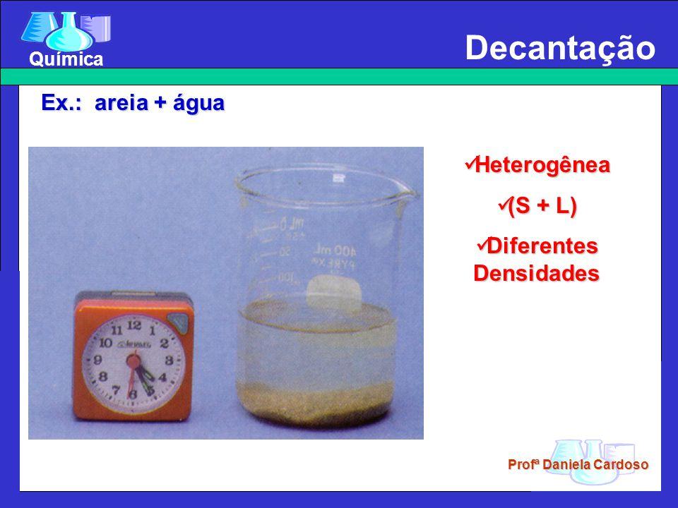 Profª Daniela Cardoso Química Decantação