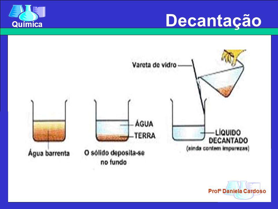 Profª Daniela Cardoso Química Decantação Decantação sólido-liquído Sifonação