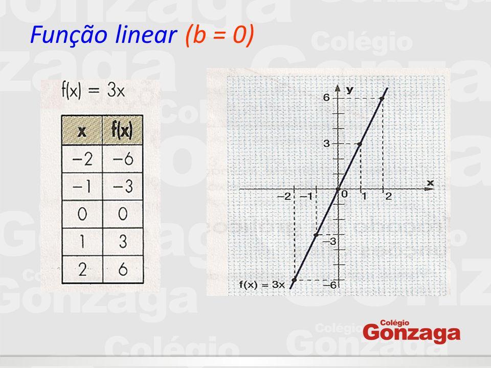 Função linear (b = 0)