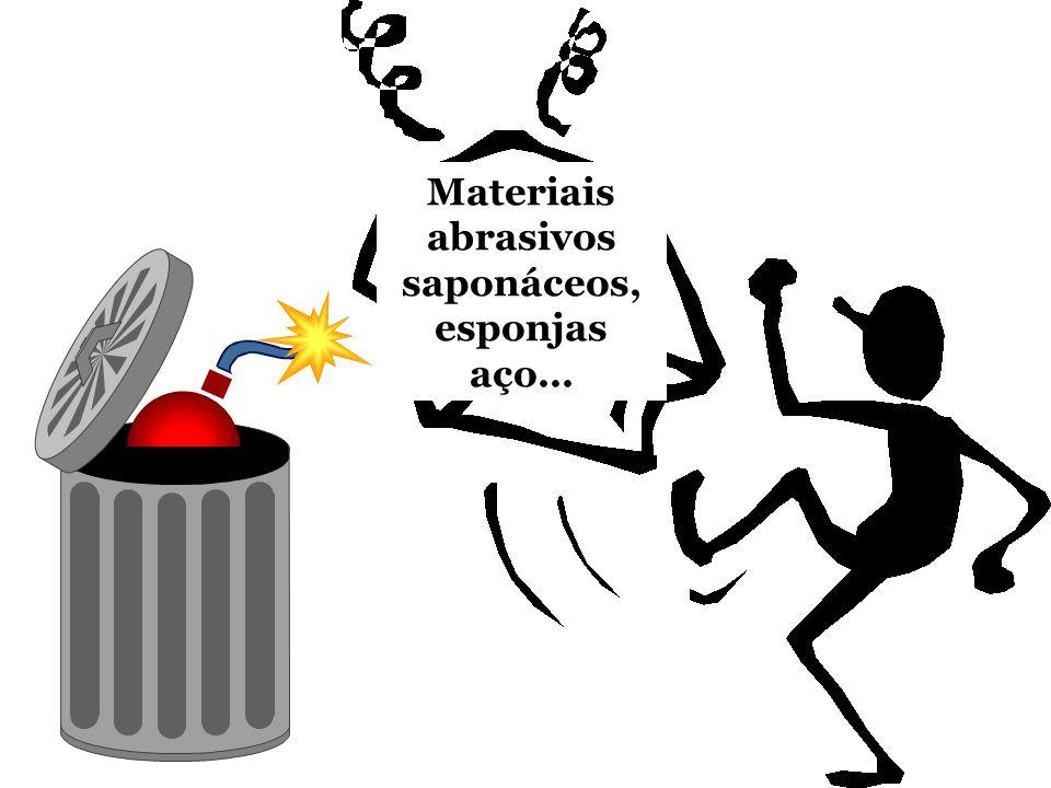 Materiais abrasivos saponáceos, esponjas aço...
