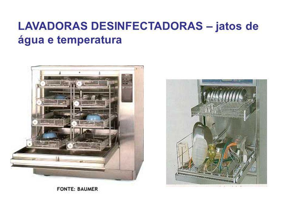 LAVADORAS DESINFECTADORAS – jatos de água e temperatura