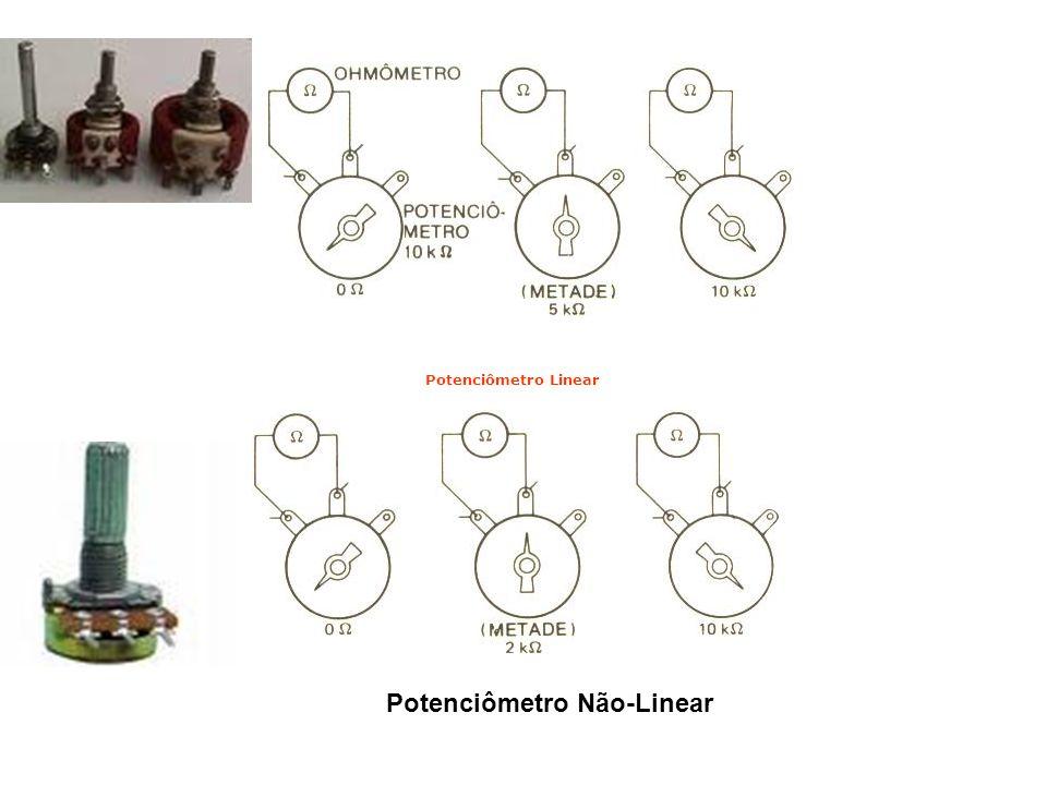 Potenciômetro Linear Potenciômetro Não-Linear