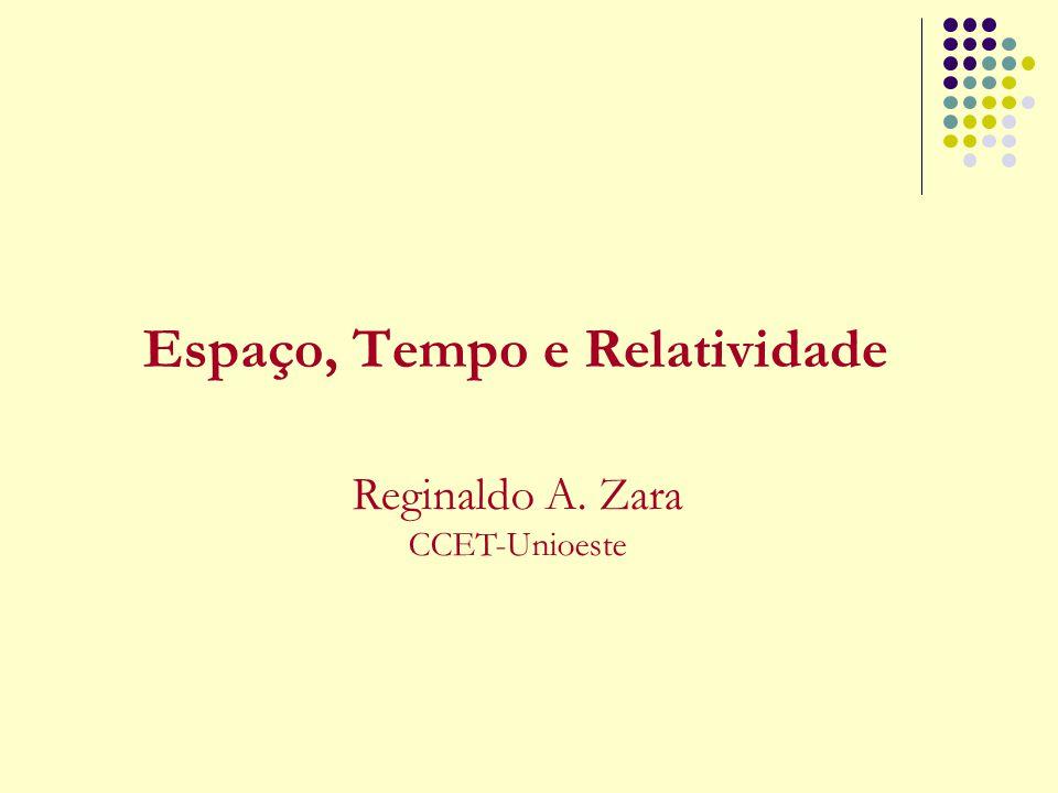 Espaço, Tempo e Relatividade Reginaldo A. Zara CCET-Unioeste