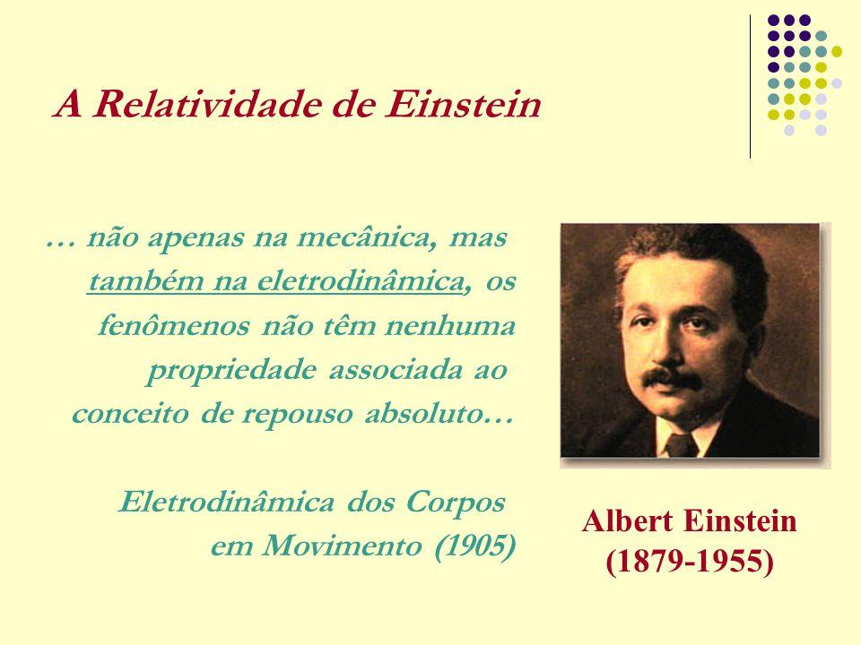 A Relatividade de Einstein … não apenas na mecânica, mas também na eletrodinâmica, os fenômenos não têm nenhuma propriedade associada ao conceito de r