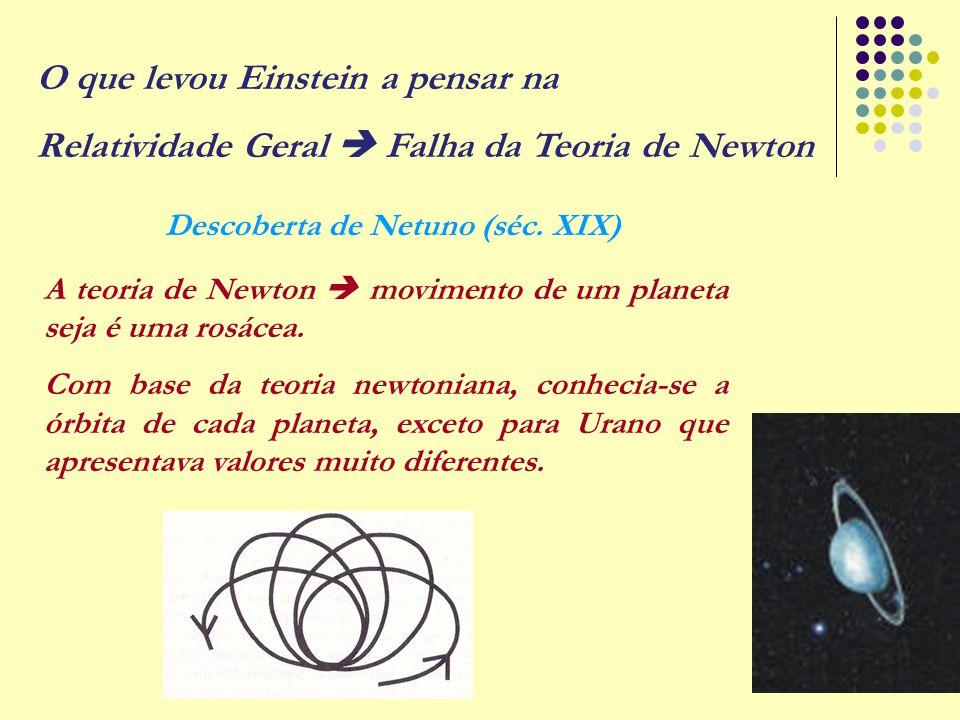 14 A teoria de Newton  movimento de um planeta seja é uma rosácea. Com base da teoria newtoniana, conhecia-se a órbita de cada planeta, exceto para U