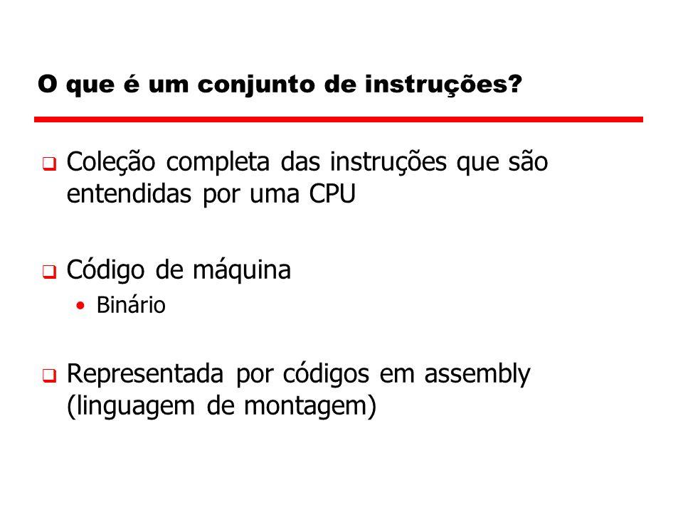 Endereçamento Imediato (cap 10)  Operando é parte da instrução  Operando = campo do endereço  e.x.