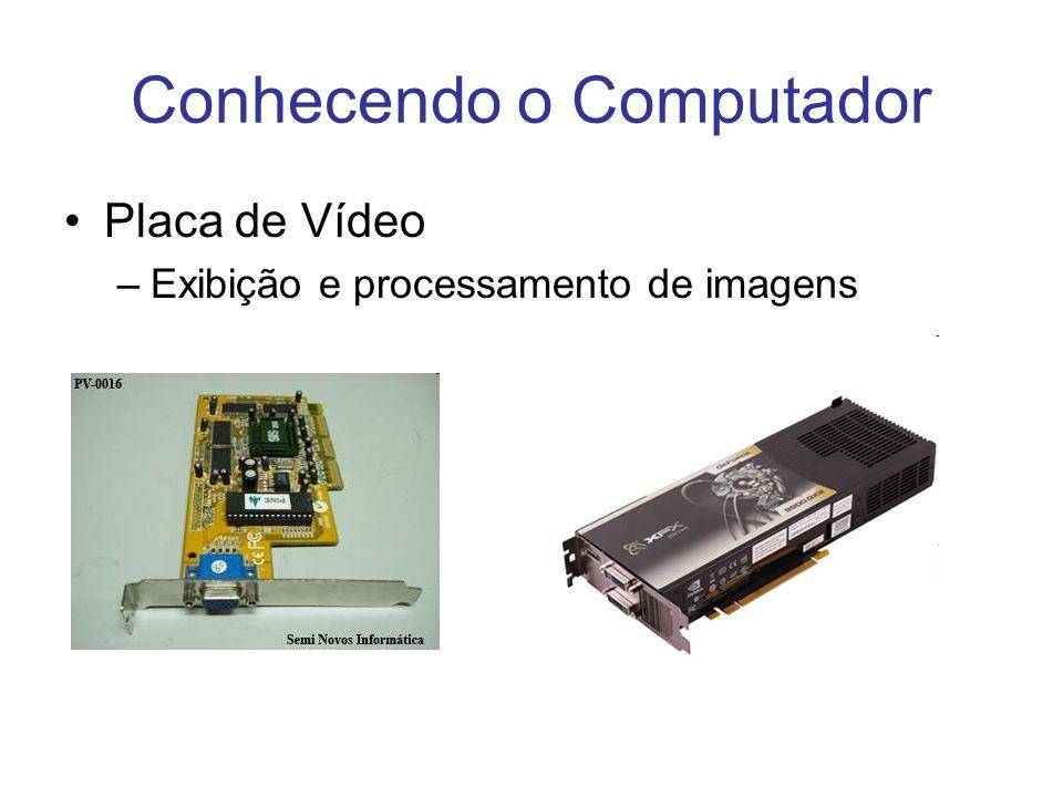 Conhecendo o Computador Placa de Vídeo –Exibição e processamento de imagens