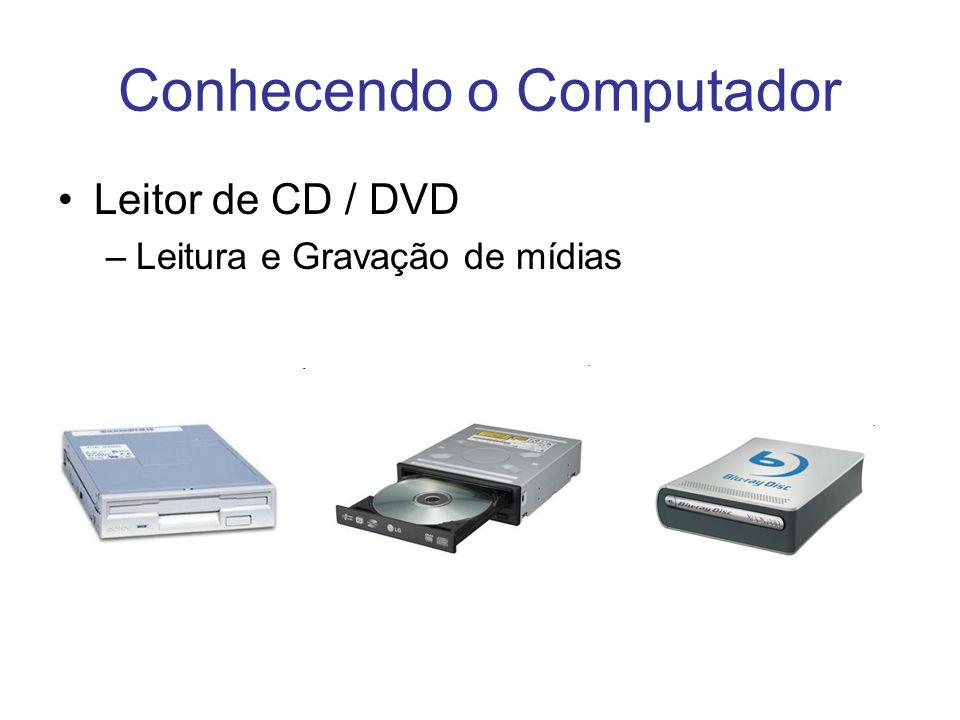 Conhecendo o Computador Leitor de CD / DVD –Leitura e Gravação de mídias