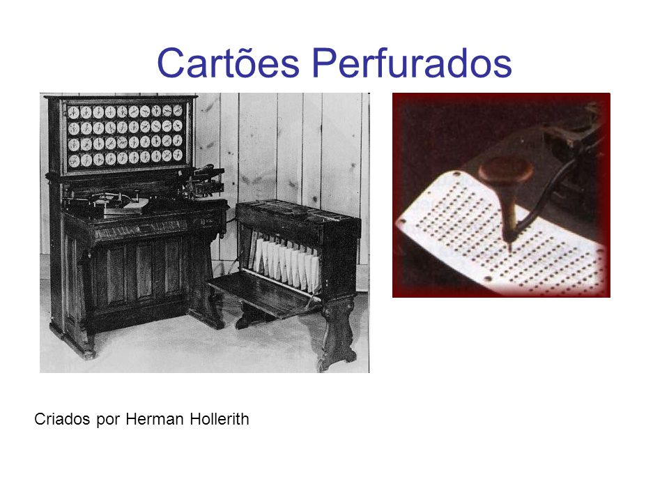 Cartões Perfurados Criados por Herman Hollerith