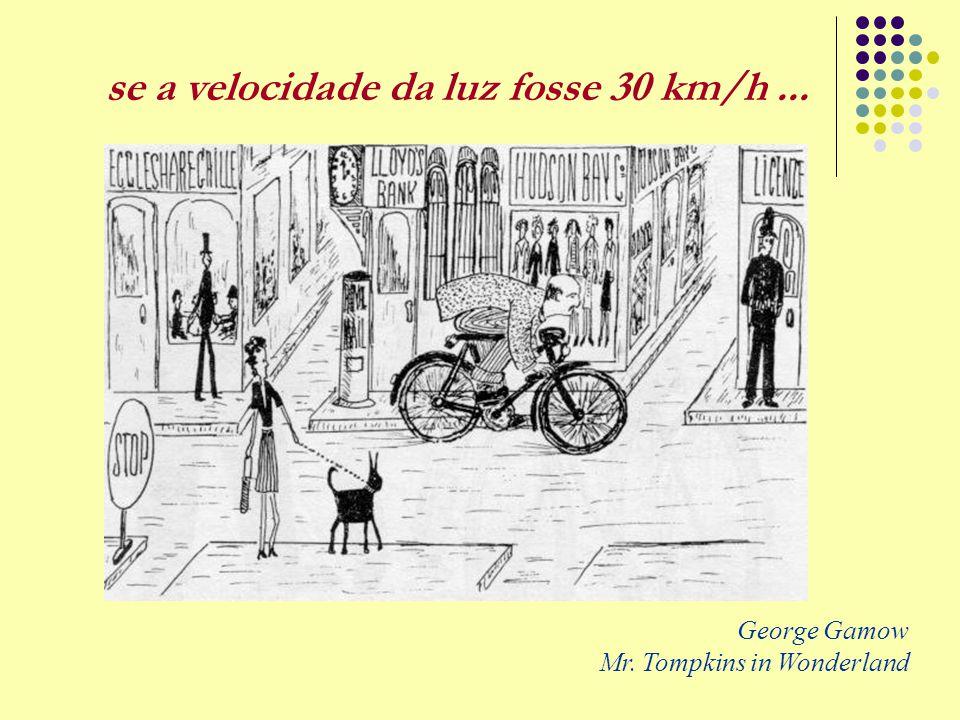 George Gamow Mr. Tompkins in Wonderland se a velocidade da luz fosse 30 km/h...