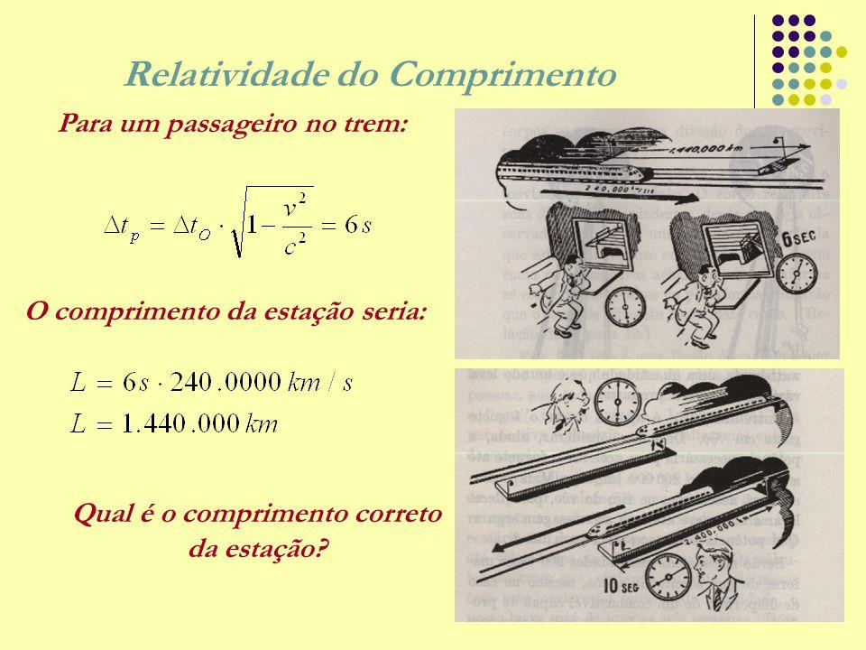 Energia Cinética Relativística Considere o trabalho realizado para acelerar uma partícula, a partir do repouso, até uma velocidade v.